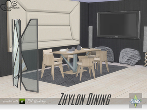 Sims 4 — Zhylon Dining by BuffSumm — Clean shaped, modern, fresh colors.... Zhylon Dining :) A Diningroom matching the