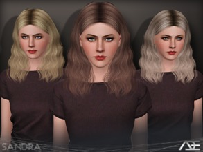 Sims 3 — Ade - Sandra by Ade_Darma — New Hair Mesh No Morph all Bones assigned All LODs
