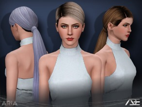 Sims 3 — Ade - Aria by Ade_Darma — New Hair Mesh No Morph all Bones assigned All LODs