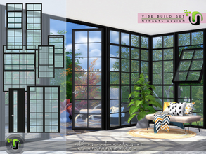 Sims 4 — Vibe Build Set by NynaeveDesign — Enhance the architectural lines of your sim's house with these rectangular