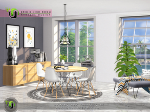 Sims 4 — Erin Dining Room by NynaeveDesign — Turn a small dining room into a focal point of your sim's house. The dining