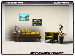 Sims 3 — Dess_Adoring Nature. SET* by Xodess — This set consists of two single file paintings for those Nature sims! In