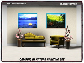 Sims 3 — Dess_Camping in Nature. SET* by Xodess — This set consists of two single file paintings based around camping. In