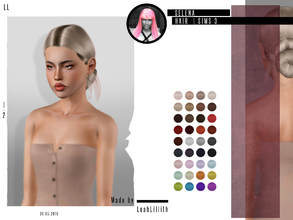 Sims 3 — LeahLillith Selena Hair by Leah_Lillith — Selena Hair All LODs Smooth bones hope you will enjoy^^