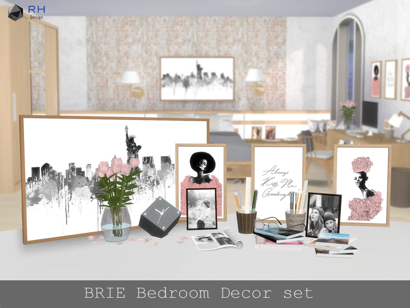 RightHearted's BRIE Bedroom Decor set