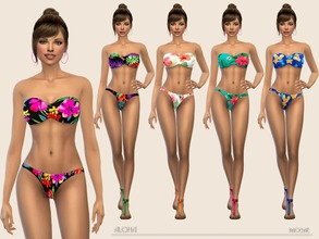 Sims 4 — Aloha by Paogae — Bikini in five Hawaiian style floral patterns ... are you ready for the coming summer?!