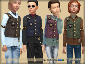 Sims 4 — Steampunk Shirt  by bukovka — A steampunk vest, for boys children. It is automatically installed, a new mesh is