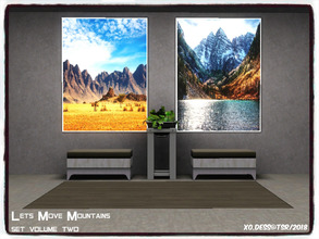 Sims 3 — Dess_Lets Move Mountains. SETV1* by Xodess — This set consists of two single file paintings, based around the