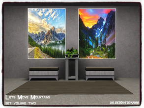 Sims 3 — Dess_Lets Move Mountains. SETV2* by Xodess — This set consists of two single file paintings, based around the