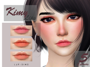 Sims 4 — Kimy Lips by LJP-Sims — -For female -All age -With 5 colours -With custom thumbnail