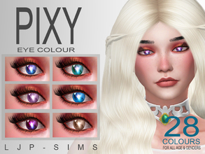 Sims 4 — Pixy Eye Colour by LJP-Sims — -For All Age Unisex -With 28 Colours -Cas Categories Makeup-Facepaint