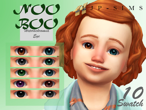 Sims 4 — NooBoo Heterochromia Eye (toddler) by LJP-Sims — -with 10 swatch -cas categories Earring -for toddlers only