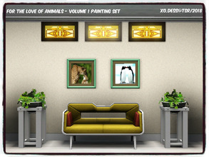 Sims 3 — Dess_Animals SET. Volume one* by Xodess — This set consists of two single file paintings of Cheetahs and