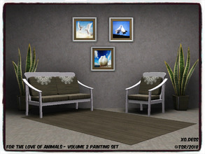 Sims 3 — Dess_Animals SET. Volume two* by Xodess — This set consists of three single file paintings of White Doves. It is
