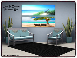 Sims 3 — Dess_Lake is Calling. SET* by Xodess — This set consists of two single file paintings of the lake - because I