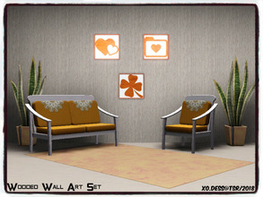Sims 3 — Dess_Wooded Wall Art. SET* by Xodess — This set consists of three single file paintings based around Wooded wall