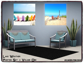 Sims 3 — Dess_Lake Weather. SETV1* by Xodess — This set consists of two single file paintings of the lake - because I