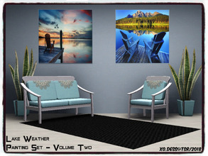 Sims 3 — Dess_Lake Weather. SETV2* by Xodess — This is a single file painting and it is part of my 'LAKE WEATHER'