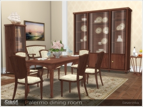 Attractive 218 CreationsDownloads / Sims 4 / Sets / Objects New Meshes / Dining Room