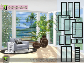 Sims 4 — Faze Build Set by NynaeveDesign — Stylish and practical, these louvre windows give your sims ultimate control