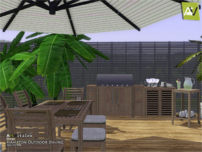 Sims 3 — Hampton Outdoor Dining by ArtVitalex — - Hampton Outdoor Dining - ArtVitalex@TSR, Jun 2018 - All objects are