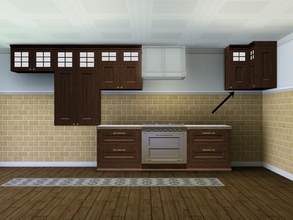 Sims 3 — MZ_Ranch Corner Cabinet by missyzim — A corner cabinet to match my shallower version of the Pets Modern Cowboy
