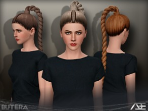 Sims 3 — Ade - Butera by Ade_Darma — New Hair Mesh No Morph all Bones assigned All LODs