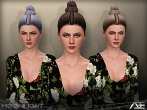 Sims 3 — Ade - Moonlight by Ade_Darma — New Hair Mesh No Morph all Bones assigned All LODs