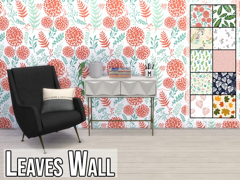 Modelsims4 S Leaves Wall