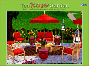 Sims 3 — Tea Rose Garden by Cashcraft — Summer breeze and birds chirping in the trees ... it's summertime and a Tea Rose
