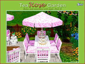 Sims 3 — Tea Rose Garden Part II by Cashcraft — Tea Rose Garden Part II includes an additional 8 objects for the set,