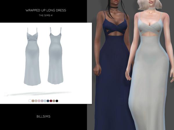 Длинное платье для Симс 4