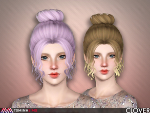 Sims 3 — Clover ( Hair 63 ) by TsminhSims — - S3Hair - New meshes - All LODs - Smooth bone assigned