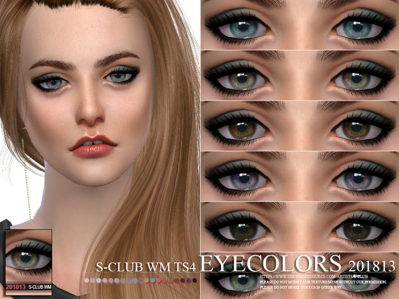 e3410733a6f S-Club WM ts4 Eyecolors 201813