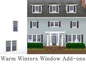 Sims 3 — MZ Warm Winters Window Add-ons by missyzim — A set of windows and shutters to match the University Warm Winters
