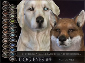 Sims 4 — Dog Eyes 04 by RemusSirion — Non-default Eyes for the Sims 4 dogs This set comes as a merged file and contains a