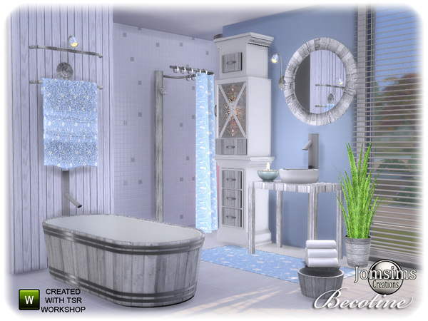 ванная комната для симс 4