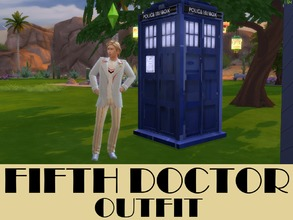 Sims 4 — Fifth Doctor Outfit (Doctor Who) by PinkPyroPlays — Fifth doctor outfit from Doctor Who, because it didn't exist