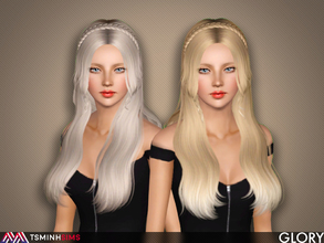 Sims 3 — Glory ( Hair 64 ) by TsminhSims — - S3Hair - New meshes - All LODs - Smooth bone assigned