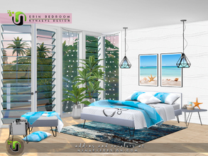Sims 4 — Erin Bedroom by NynaeveDesign — Inspire sweet dreams with this charming, contemporary bedroom and tailor it into