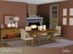 Sims 3 — Campbell Dining  by Lulu265 — Brighten up your dining room with this transitional style piece. The table