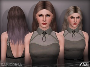 Sims 3 — Ade - Sandrina by Ade_Darma — New Hair Mesh No Morph all Bones assigned All LODs