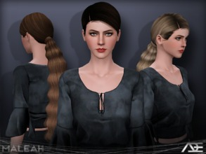 Sims 3 — Ade - Maleah by Ade_Darma — New Hair Mesh No Morph all Bones assigned All LODs