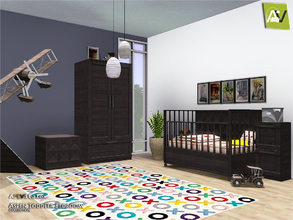 Sims 3 — Aspen Toddler Bedroom by ArtVitalex — - Aspen Toddler Bedroom - ArtVitalex@TSR, Jul 2018 - All objects are