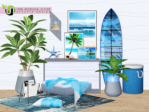 Sims 3 — Erin Bedroom Decor by NynaeveDesign — Experience the beauty and majesty of the beach with these eye catching