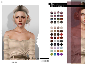 Sims 3 — LeahLillith Melissa Hair by Leah_Lillith — Melissa Hair All LODs Smooth bones hope you will enjoy^^
