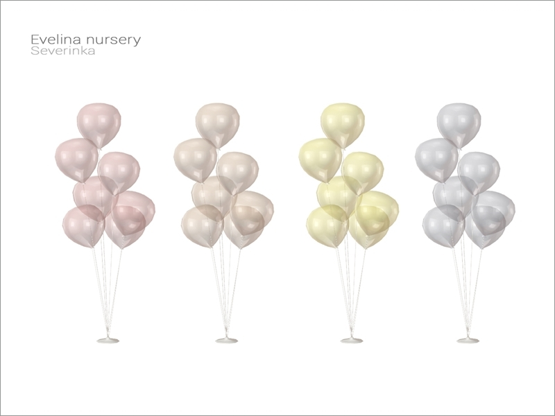 Evelina Nursery Balloons Floor Lamp