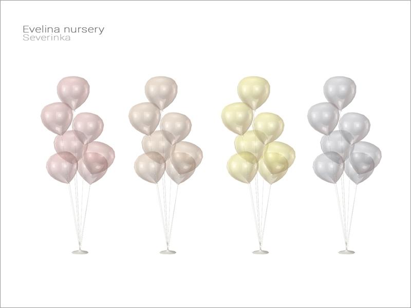 Evelina Nursery Balloons Floor Lamp