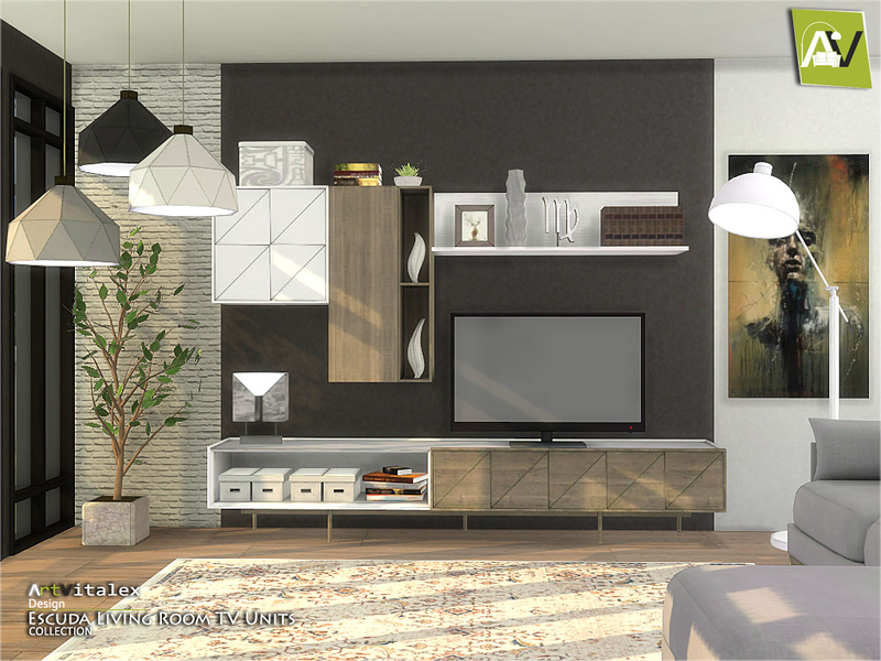ArtVitalex\'s Escuda Living Room TV Units