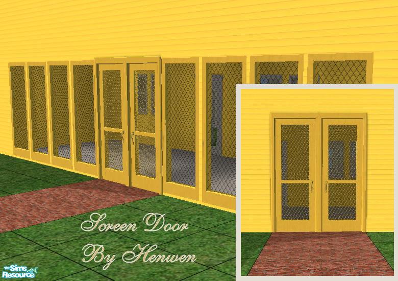 Henwens Screen Door Country Yellow